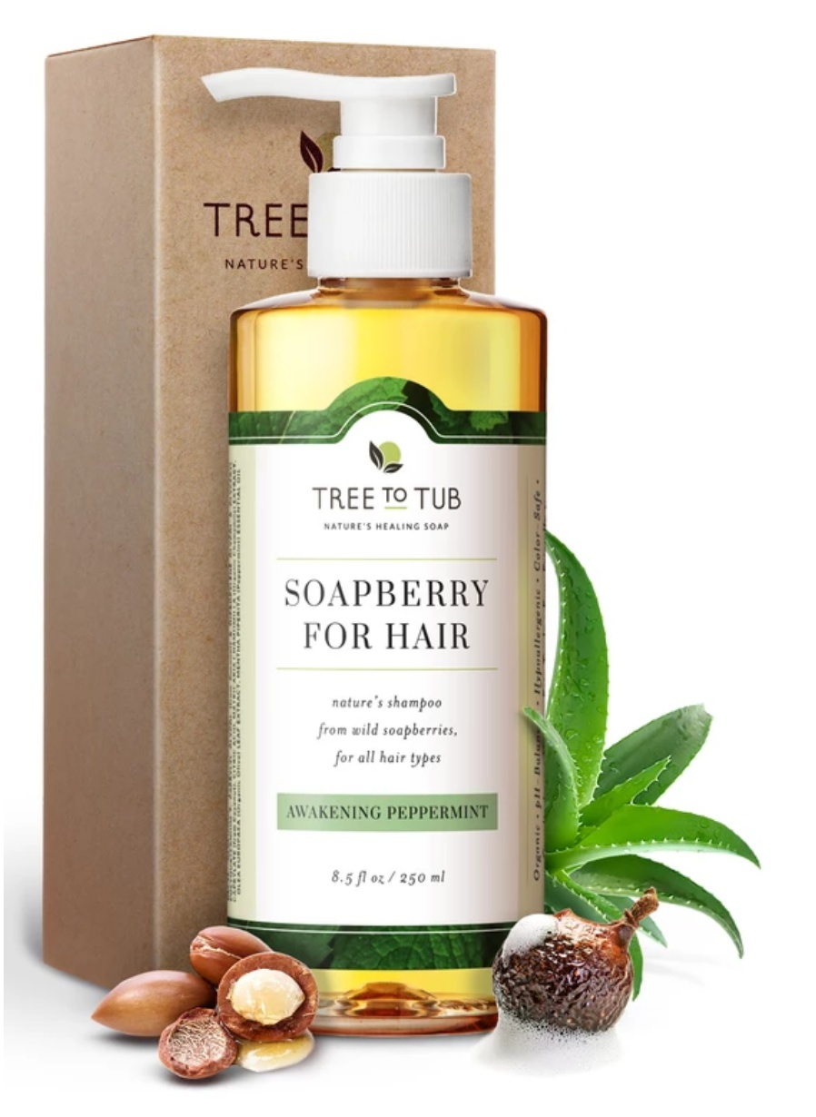 Tree to Tub Soapberry Shampoo Awakening Peppermint