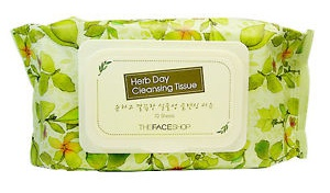 The Face Shop Herb Day Cleansing Tissue Ingredients