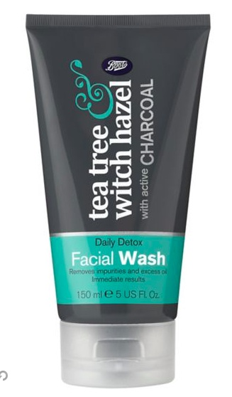 Boots Tea Tree & Witch Hazel Charcoal Facial Wash