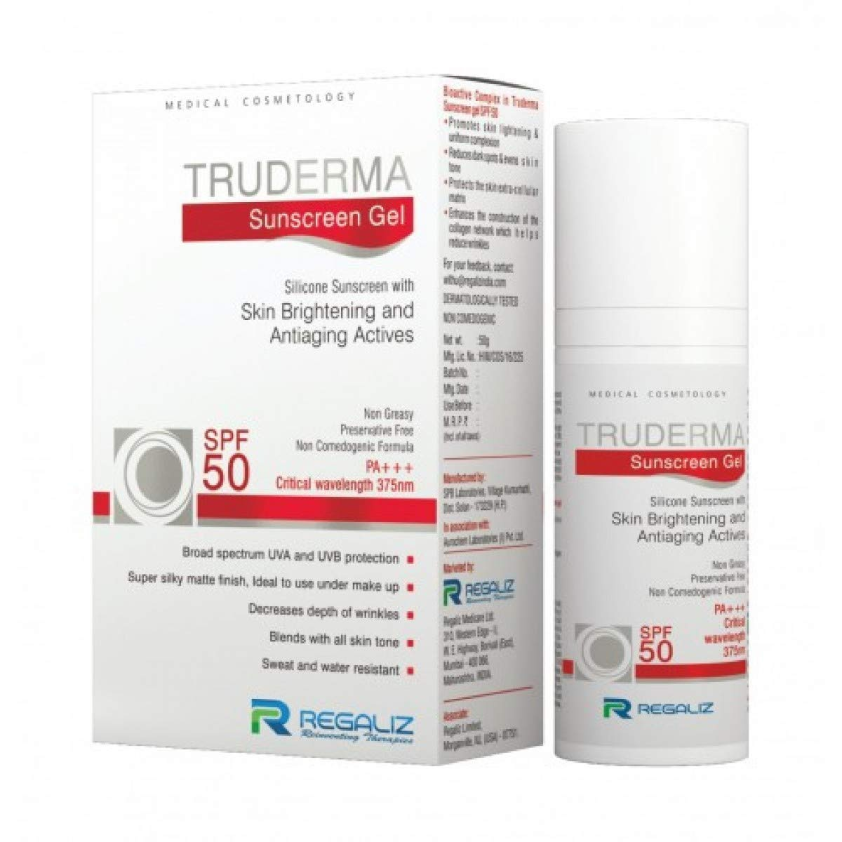 Regaliz Truderma Spf-50 Sunscreen Gel