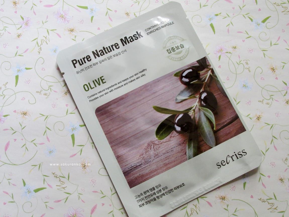 Secriss Pure nature Sheet Mask OLIVE