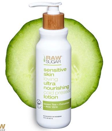 Raw Sugar Simply Body Lotion (Sensitive Skin) - Green Tea + Cucumber + Aloe Vera