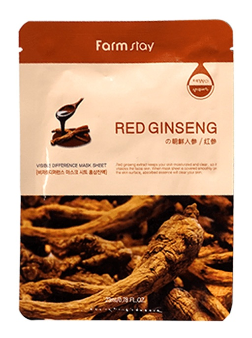 Farm Stay Visible Difference Sheet Mask Red Ginseng