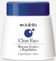 Violetta Clear Face Secative And Regulating Mask