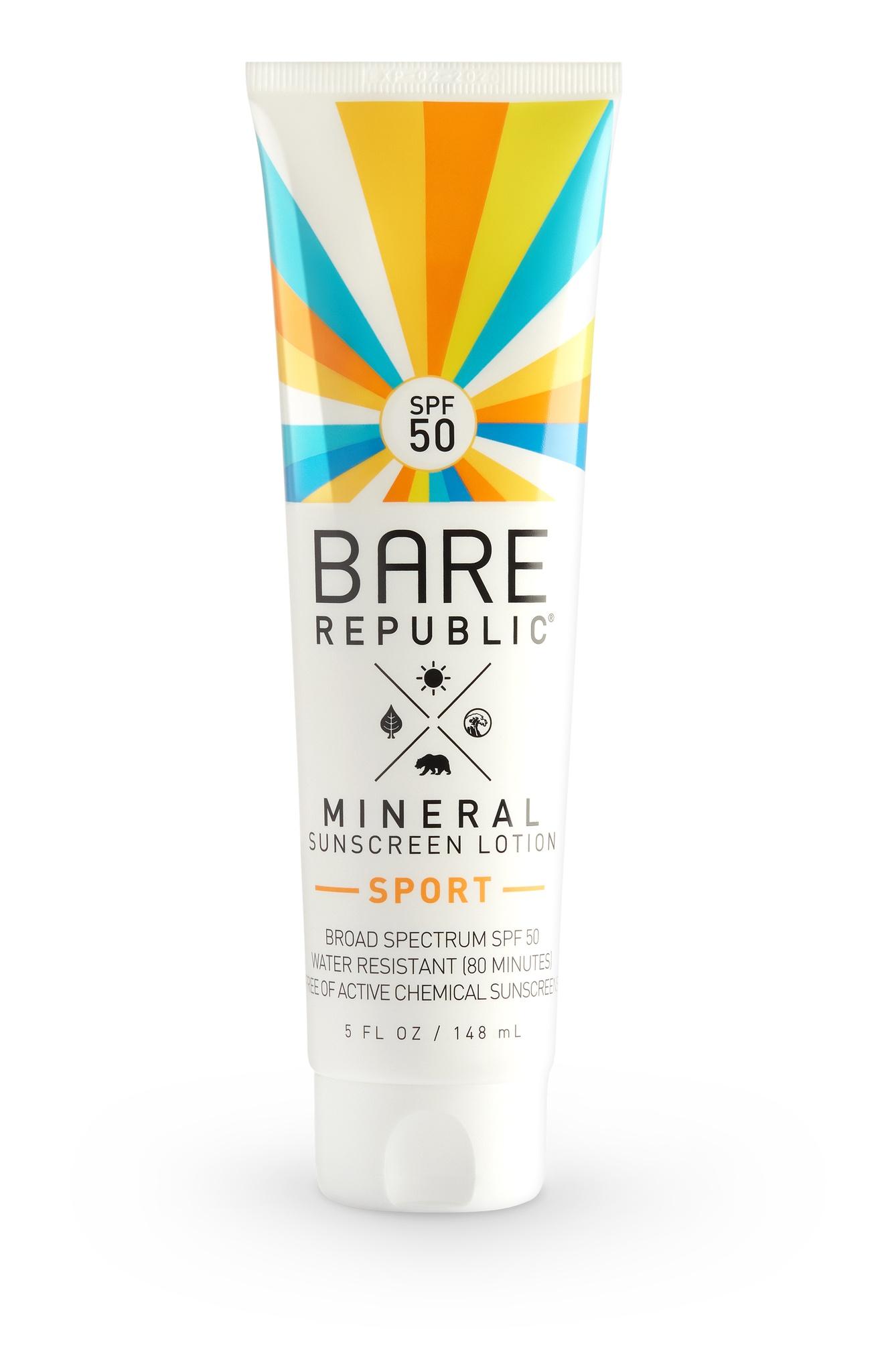 Bare Republic Mineral Sunscreen Lotion Sport Spf 50