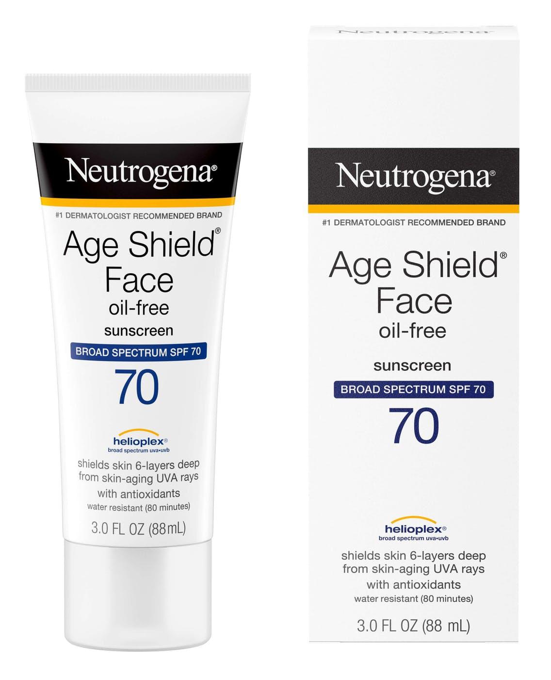 Neutrogena Age Shield Anti-Oxidant Face Lotion Sunscreen Broad Spectrum Spf 70