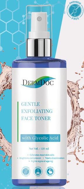 DermDoc Gentle Exfoliating Toner with Glycolic Acid