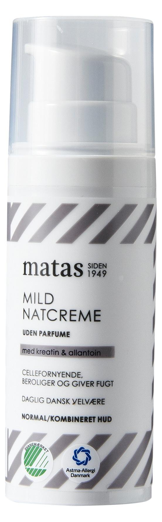Matas Striber Mild Natcreme Til Normal/Kombineret Hud Uden Parfume