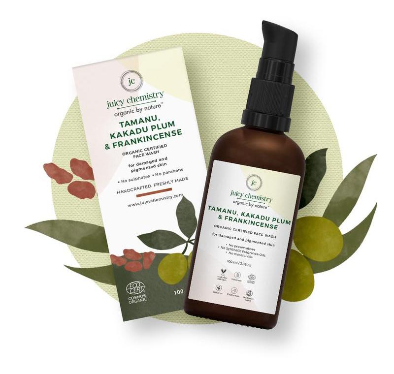 juicy chemistry Tamanu, Kakadu Plum & Frankincense Organic Face Wash