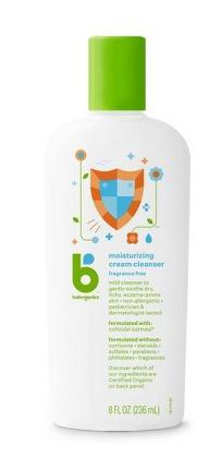Babyganics Moisturizing Therapy Cream Wash, Fragrance Free - 8Oz Bottle
