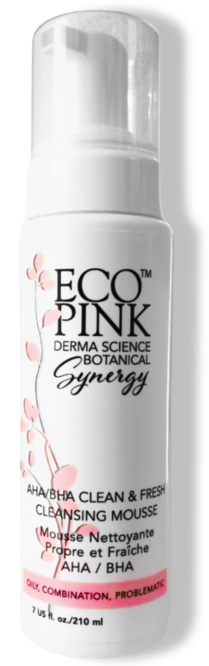 ECO Pink AHA/BHA Clean & Fresh Cleansing Mousse