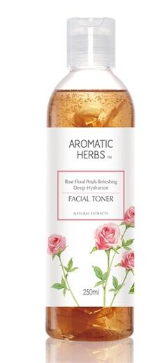 Aromatic Herbs Rose Floral Petals Refreshing Deep Hydration Facial Toner