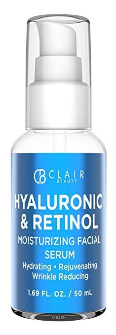 Clair Beauty Hyaluronic & Retinol - Moisturizing Facial Serum