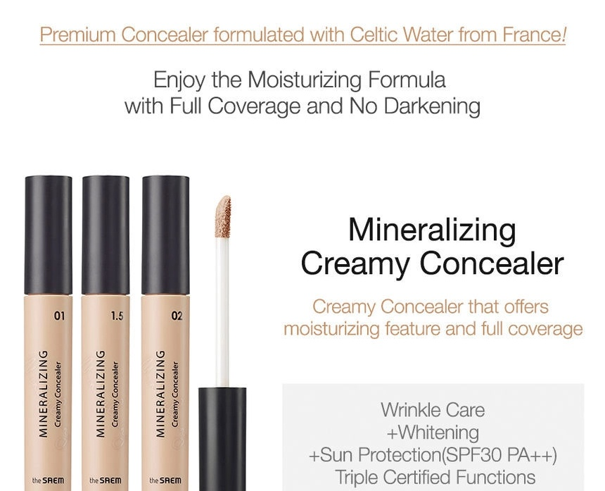 The Saem Mineralizing Creamy Concealer Spf30 Pa++