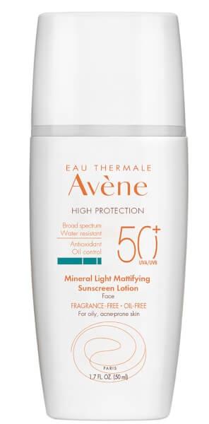 Avene Mineral Light Mattifying Sunscreen Lotion Spf 50+