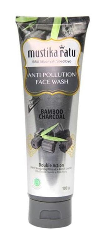 Mustika Ratu Anti Pollution Bamboo Charcoal Face Wash