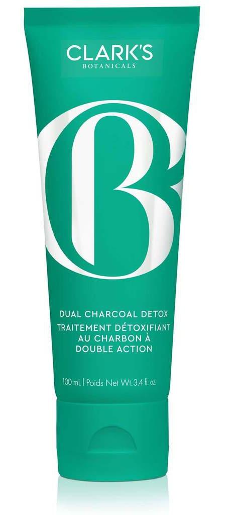 Clark's Botanical Dual Charcoal Detox Brightening Mask + Exfoliating Treatment