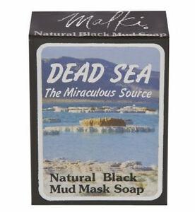 J Malki Dead Sea Natural Black Mud Mask Soap