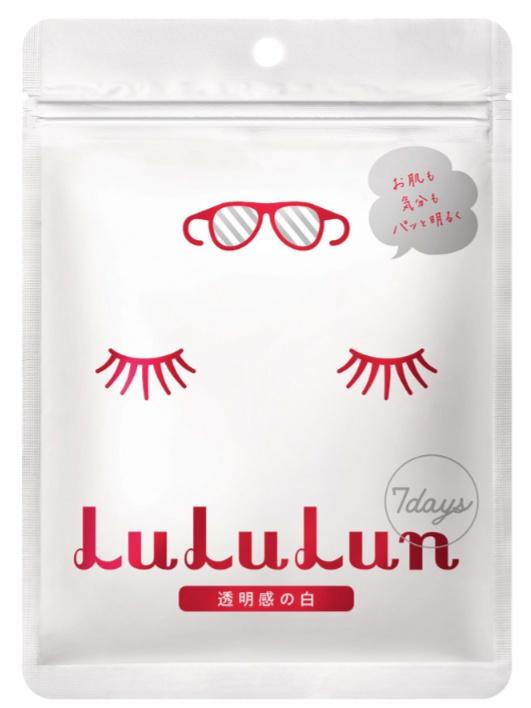Lululun Facial Sheet Mask, White (Brightening)