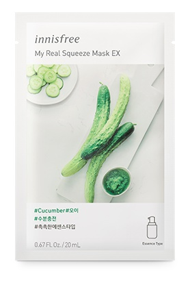innisfree My Real Squeeze Mask Ex - Cucumber