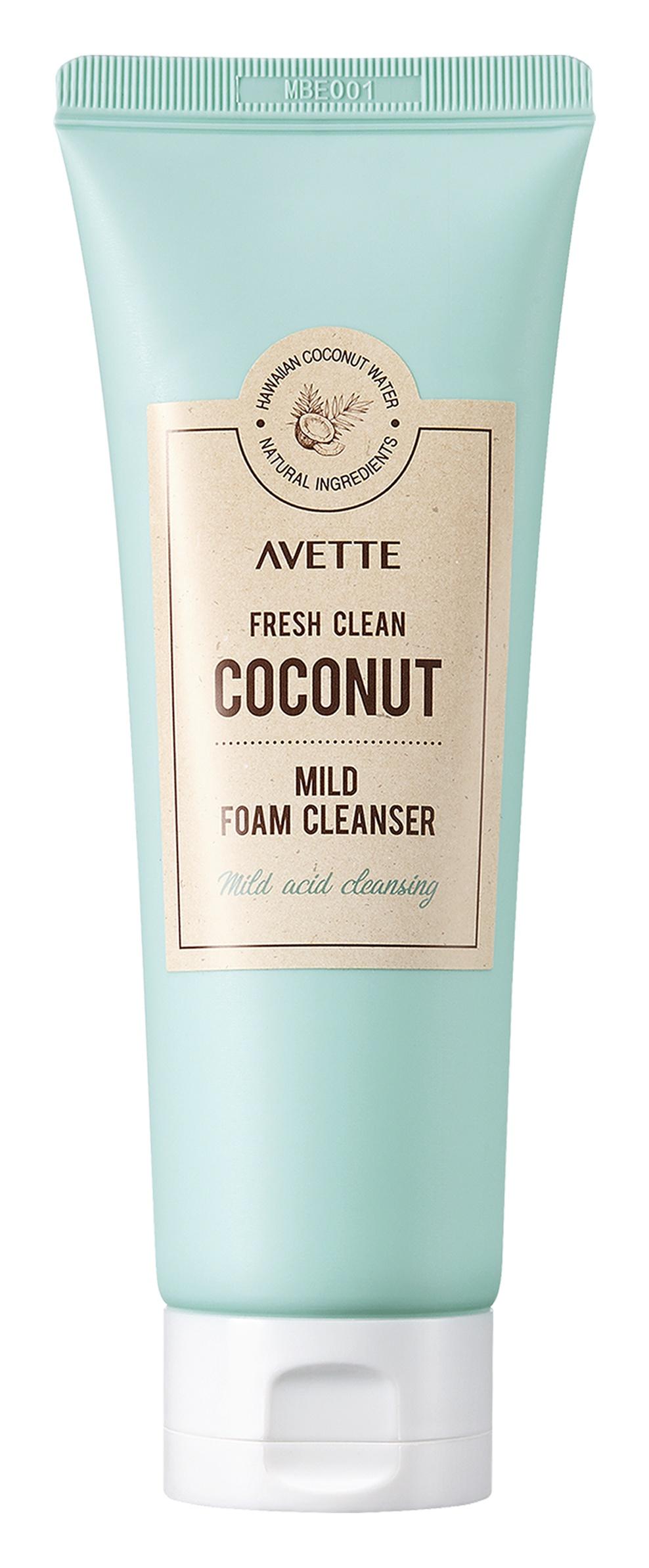 Avette Fresh Clean Coconut Mild Foam Cleanser