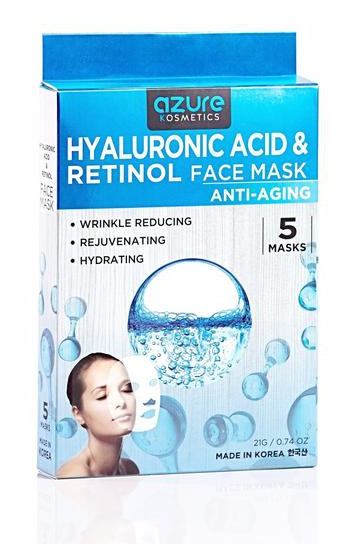 Azure Hyaluronic Acid & Retinol Anti Aging Sheet Face Mask