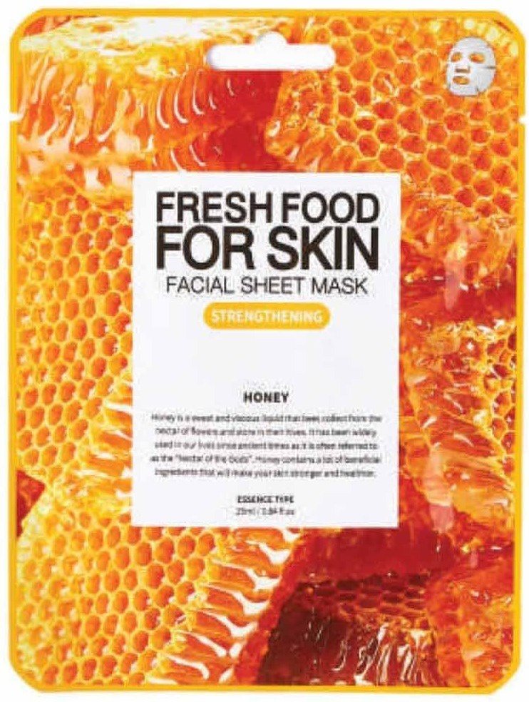 Farm Skin Fresh Food For Skin Facial Sheet Mask Honey: Strengthening