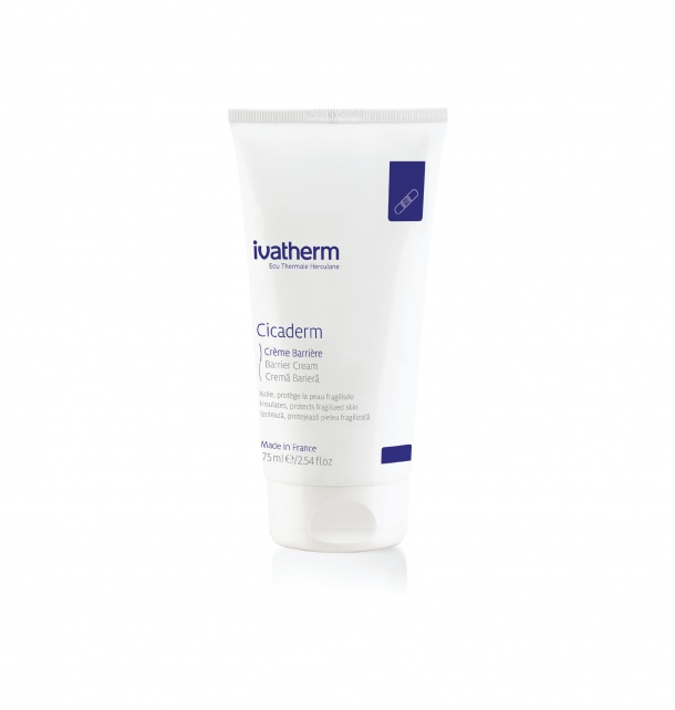 ivatherm Eau Thermale Herculane Cicaderm Barrier Cream, Insulates, Protects Fragilized Skin