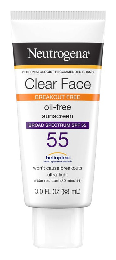 Neutrogena Clear Face Oil Free Suncreen Spf 55
