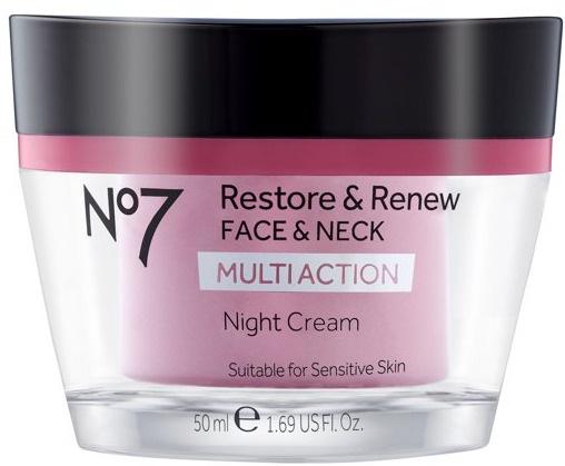 No7 Restore & Renew Multi Action Face & Neck Night Cream