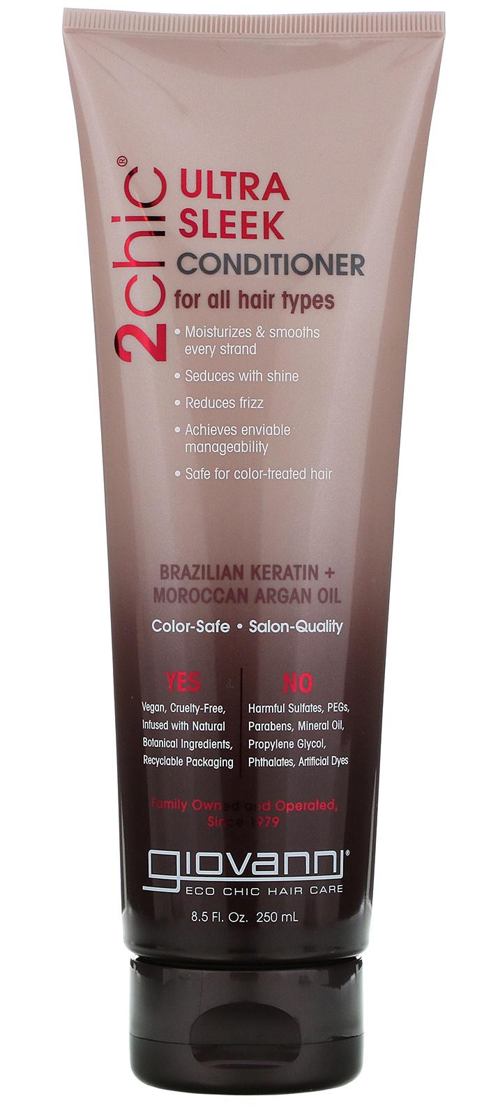 Giovanni 2Chic, Ultra-Sleek Shampoo, Brazilian Keratin & Argan Oil