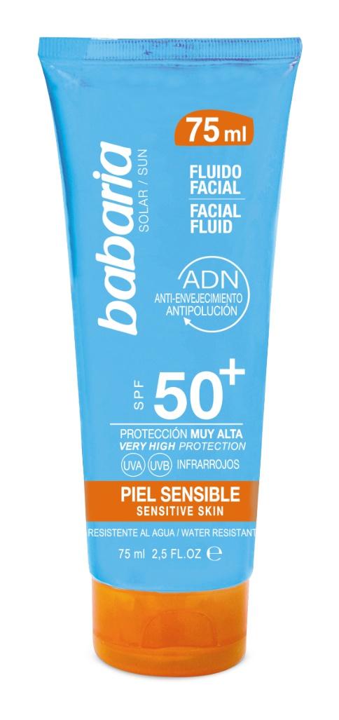 Babaria Spf50+ Facial Fluid For Sensitive Skin