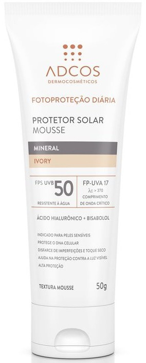 ADCOS Protetor Solar Mousse Mineral Fps 50 (Ivory)