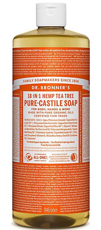 Dr Bronner Tea Tree Pure-Castile Liquid Soap