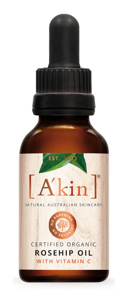 A'KIN Certified Organic Rosehip Oil with Vitamin C