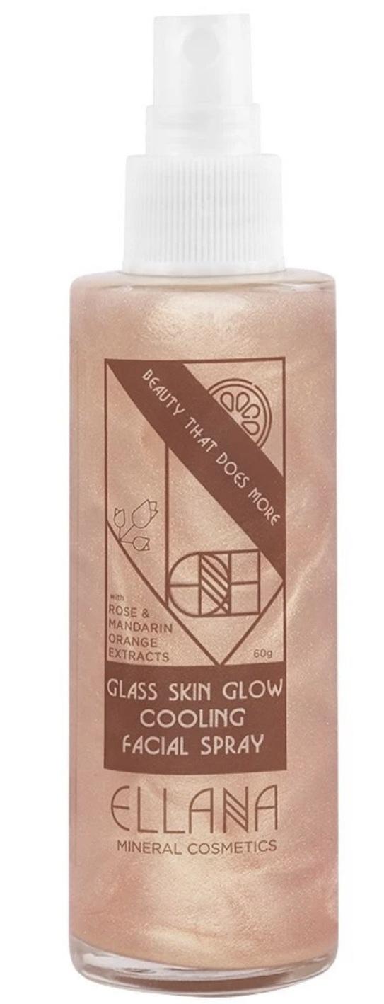 Ellana Mineral Cosmetics Glass Skin Glow Cooling Facial Spray