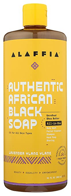 Alaffia Authentic African Black Soap All-In-One