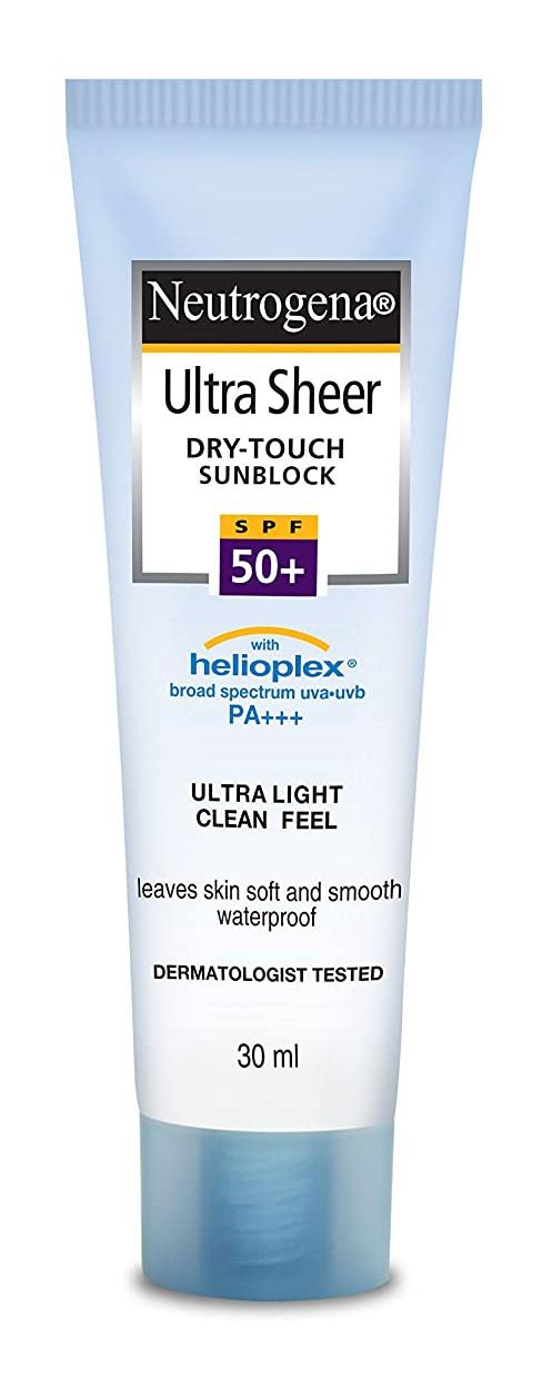 Neutrogena Ultra Sheer Dry-Touch Sunscreen Spf50