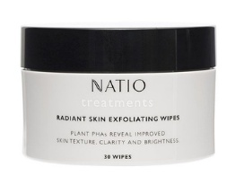 Natio Radiant Skin Exfoliating Wipes - 30 Wipes