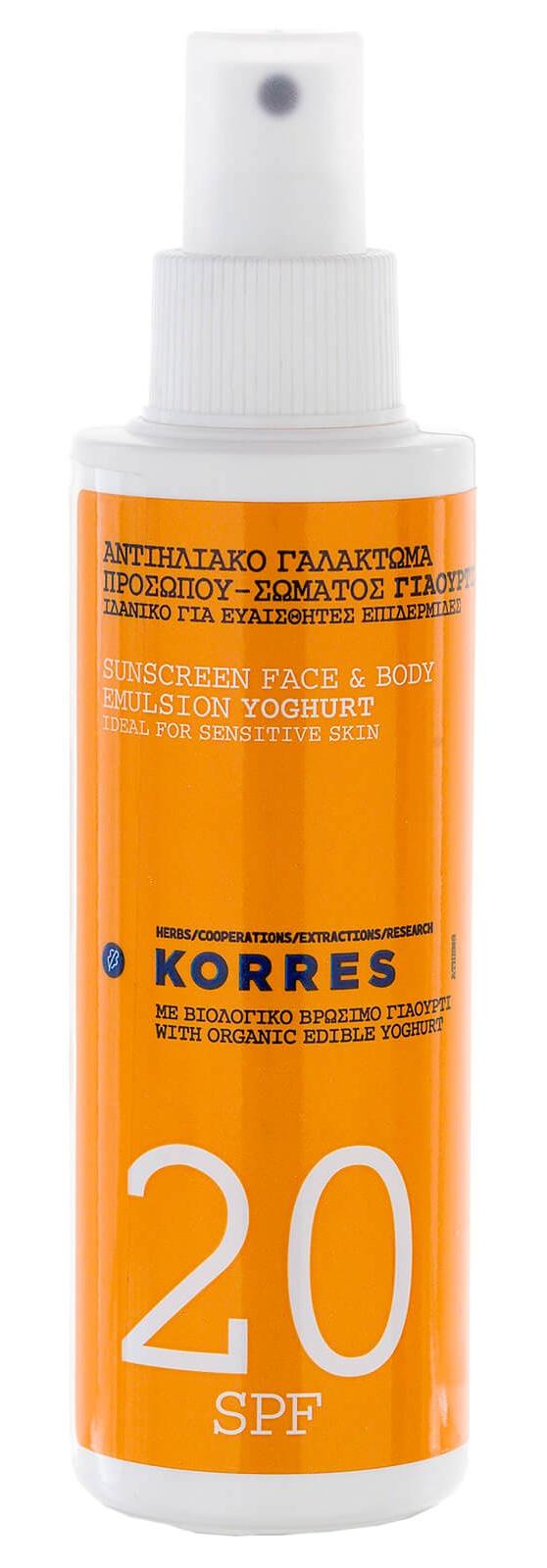 Korres Yogurt Face & Body Sunscreen Lotion Spf20