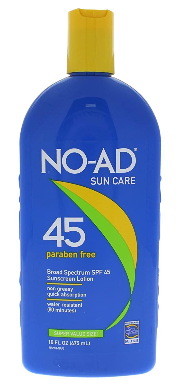 No Ad Sunscreen Lotion SPF 45