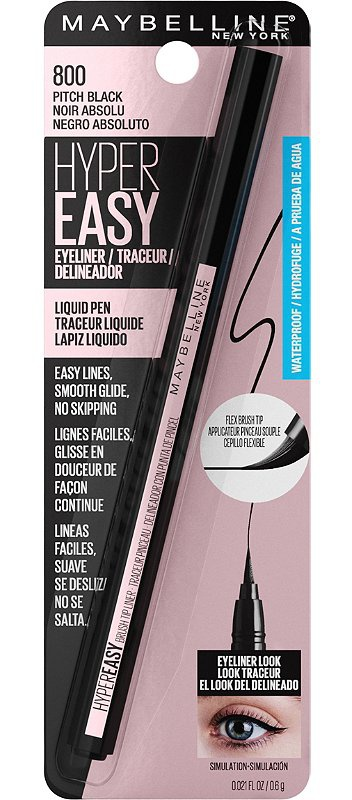 Maybelline Hyper Easy Waterproof Liquid Liner In Pitch Black