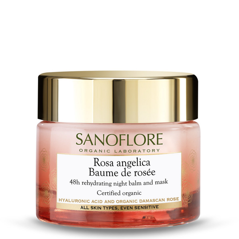 Sanoflore Rosa Angelica Baume De Rosée 48h Rehydrating Night Balm and Mask