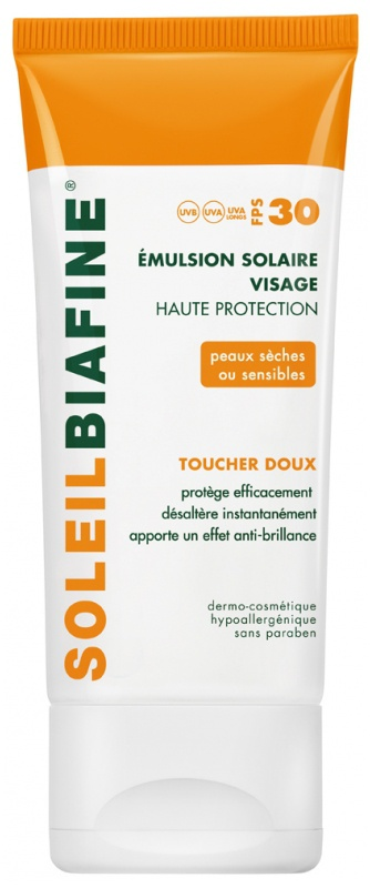 SoleilBiafine High Protection Sun Care Face Emulsion Spf30