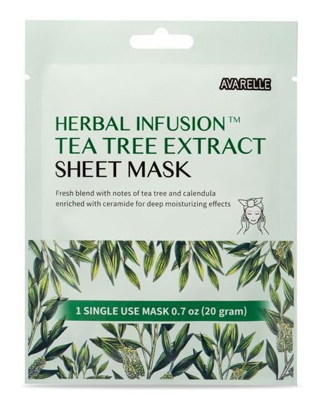 Avarelle Herbal Infusion Tea Tree Extract Sheet Mask