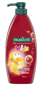 Palmolive Kids 3 In 1 Shampoo, Body Wash And Conditioner - Strawberry