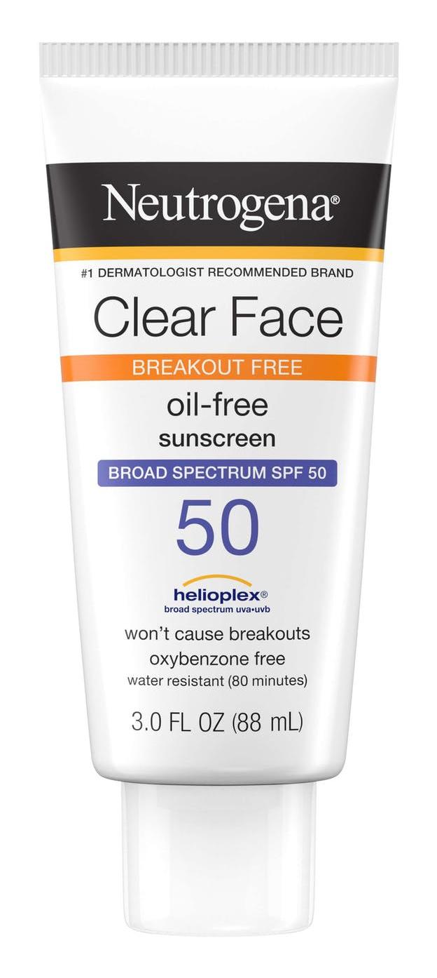 Neutrogena Clear Face Sunscreen Lotion- SPF 50