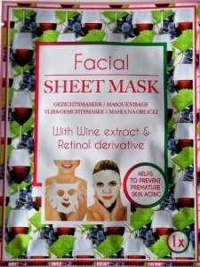Mascot Europe BV Facial Sheet Mask With Wine Extract