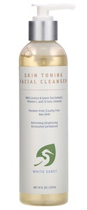 White Egret Personal Care Skin Toning Facial Cleanser