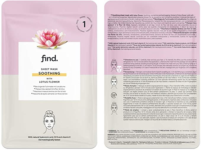 find. Sheet Mask Soothing with Lotus Flower